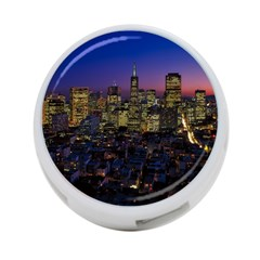 San Francisco California City Urban 4 Port Usb Hub (two Sides)  by Nexatart