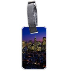 San Francisco California City Urban Luggage Tags (one Side)  by Nexatart