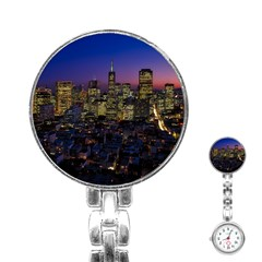 San Francisco California City Urban Stainless Steel Nurses Watch by Nexatart