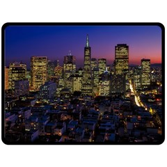 San Francisco California City Urban Double Sided Fleece Blanket (large)  by Nexatart