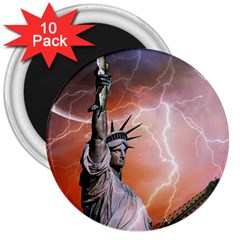 Statue Of Liberty New York 3  Magnets (10 Pack)