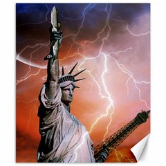 Statue Of Liberty New York Canvas 8  X 10  by Nexatart