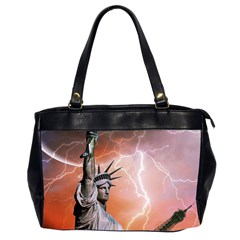 Statue Of Liberty New York Office Handbags (2 Sides)