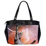 Statue Of Liberty New York Office Handbags (2 Sides)  Back