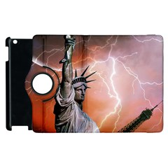Statue Of Liberty New York Apple Ipad 3/4 Flip 360 Case