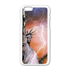 Statue Of Liberty New York Apple Iphone 6/6s White Enamel Case by Nexatart