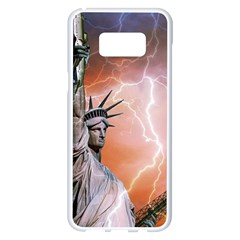 Statue Of Liberty New York Samsung Galaxy S8 Plus White Seamless Case by Nexatart