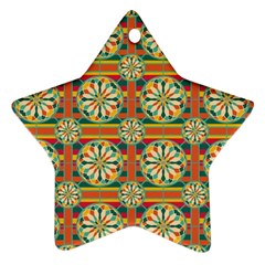Eye Catching Pattern Star Ornament (two Sides) by linceazul