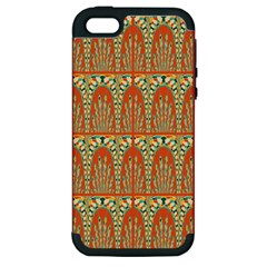 Arcs Pattern Apple Iphone 5 Hardshell Case (pc+silicone) by linceazul