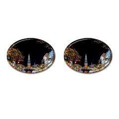 Church Decoration Night Cufflinks (oval) by Nexatart
