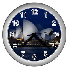 Landmark Sydney Opera House Wall Clocks (silver)  by Nexatart