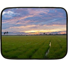 Landscape Sunset Sky Sun Alpha Double Sided Fleece Blanket (mini)  by Nexatart