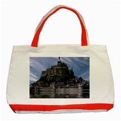 Mont Saint Michel France Normandy Classic Tote Bag (red) by Nexatart