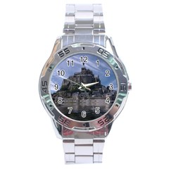 Mont Saint Michel France Normandy Stainless Steel Analogue Watch by Nexatart