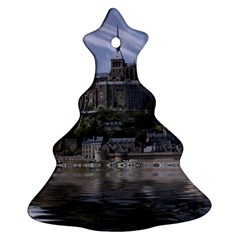 Mont Saint Michel France Normandy Christmas Tree Ornament (two Sides) by Nexatart