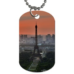 Paris France French Eiffel Tower Dog Tag (two Sides) by Nexatart