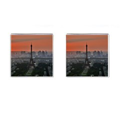 Paris France French Eiffel Tower Cufflinks (square) by Nexatart