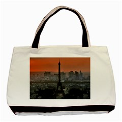 Paris France French Eiffel Tower Basic Tote Bag (two Sides)