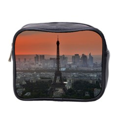Paris France French Eiffel Tower Mini Toiletries Bag 2 Side by Nexatart