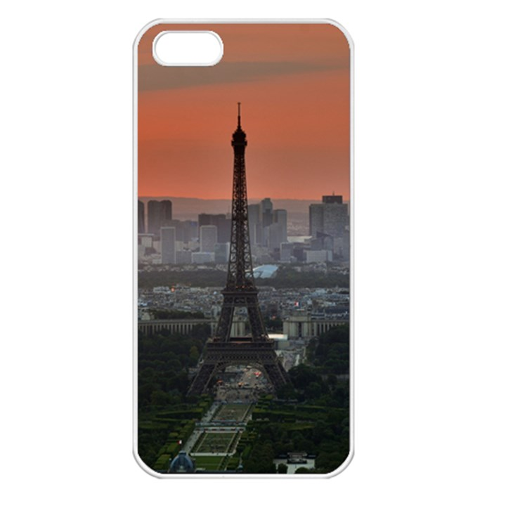 Paris France French Eiffel Tower Apple iPhone 5 Seamless Case (White)