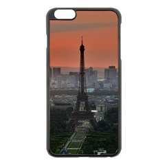 Paris France French Eiffel Tower Apple Iphone 6 Plus/6s Plus Black Enamel Case