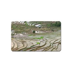 Rice Fields Terraced Terrace Magnet (name Card) by Nexatart