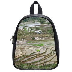 Rice Fields Terraced Terrace School Bag (small) by Nexatart
