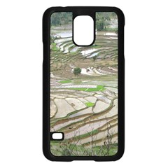 Rice Fields Terraced Terrace Samsung Galaxy S5 Case (black) by Nexatart