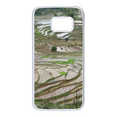 Rice Fields Terraced Terrace Samsung Galaxy S7 White Seamless Case