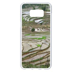 Rice Fields Terraced Terrace Samsung Galaxy S8 Plus White Seamless Case by Nexatart
