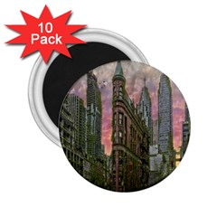 Flat Iron Building Toronto Ontario 2 25  Magnets (10 Pack)  by Nexatart