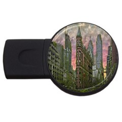 Flat Iron Building Toronto Ontario Usb Flash Drive Round (2 Gb) by Nexatart