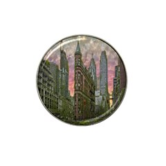 Flat Iron Building Toronto Ontario Hat Clip Ball Marker (4 Pack) by Nexatart