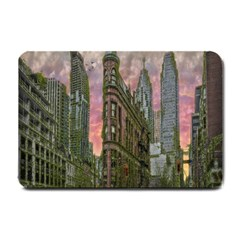 Flat Iron Building Toronto Ontario Small Doormat  by Nexatart