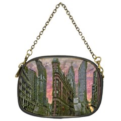 Flat Iron Building Toronto Ontario Chain Purses (one Side)  by Nexatart