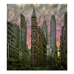Flat Iron Building Toronto Ontario Shower Curtain 66  X 72  (large)  by Nexatart