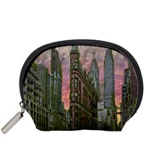 Flat Iron Building Toronto Ontario Accessory Pouches (small)  by Nexatart