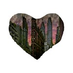 Flat Iron Building Toronto Ontario Standard 16  Premium Flano Heart Shape Cushions Front