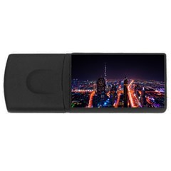 Dubai Cityscape Emirates Travel Rectangular Usb Flash Drive by Nexatart