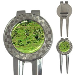 Greenery Paddy Fields Rice Crops 3 In 1 Golf Divots by Nexatart