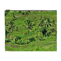 Greenery Paddy Fields Rice Crops Cosmetic Bag (xl) by Nexatart