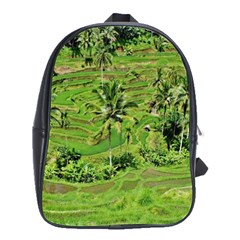 Greenery Paddy Fields Rice Crops School Bag (large)