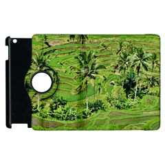 Greenery Paddy Fields Rice Crops Apple Ipad 3/4 Flip 360 Case by Nexatart