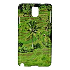 Greenery Paddy Fields Rice Crops Samsung Galaxy Note 3 N9005 Hardshell Case by Nexatart