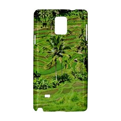 Greenery Paddy Fields Rice Crops Samsung Galaxy Note 4 Hardshell Case by Nexatart