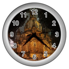 Dresden Frauenkirche Church Saxony Wall Clocks (silver)  by Nexatart