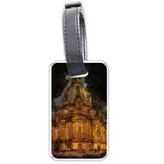 Dresden Frauenkirche Church Saxony Luggage Tags (one Side)  by Nexatart