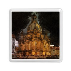 Dresden Frauenkirche Church Saxony Memory Card Reader (square)  by Nexatart