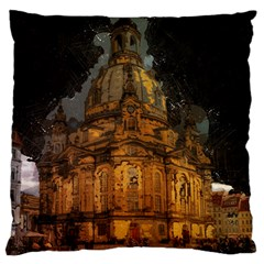 Dresden Frauenkirche Church Saxony Large Cushion Case (one Side) by Nexatart