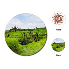 Bali Rice Terraces Landscape Rice Playing Cards (round)